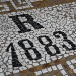 mosaico sulla soglia d'accesso al paino nobile