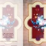 Biglietto Villa Manin Cantarella, motivo floreale