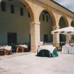 banchetto nel Portico delle barchesse