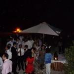 festa serale Portico delle Barchesse e giardino anteriore