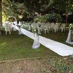 giardino allestito per cerimonia di nozze a Villa Manin Cantarella